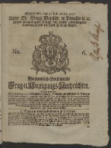Wochentlich-Stettinische Frag- und Anzeigungs-Nachrichten. 1752 No. 6