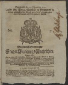 Wochentlich-Stettinische Frag- und Anzeigungs-Nachrichten. 1752 No. 7