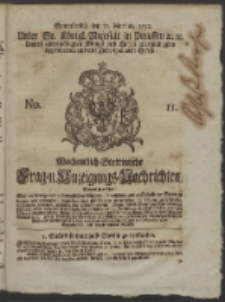 Wochentlich-Stettinische Frag- und Anzeigungs-Nachrichten. 1752 No. 11