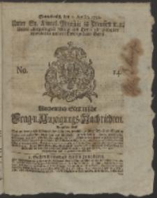 Wochentlich-Stettinische Frag- und Anzeigungs-Nachrichten. 1752 No. 14
