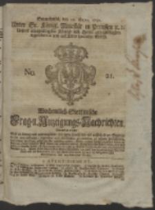 Wochentlich-Stettinische Frag- und Anzeigungs-Nachrichten. 1752 No. 21 + Anhang