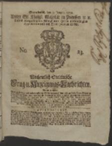 Wochentlich-Stettinische Frag- und Anzeigungs-Nachrichten. 1752 No. 23 + Anhang