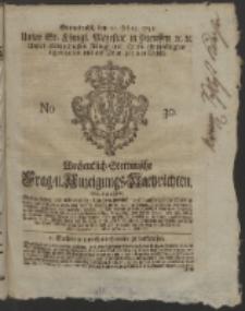 Wochentlich-Stettinische Frag- und Anzeigungs-Nachrichten. 1752 No. 30 + Anhang