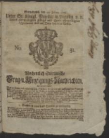 Wochentlich-Stettinische Frag- und Anzeigungs-Nachrichten. 1752 No. 31 + Anhang
