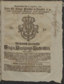 Wochentlich-Stettinische Frag- und Anzeigungs-Nachrichten. 1752 No. 32 + Anhang