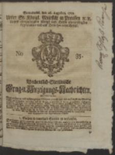 Wochentlich-Stettinische Frag- und Anzeigungs-Nachrichten. 1752 No. 35 + Anhang