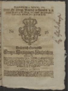 Wochentlich-Stettinische Frag- und Anzeigungs-Nachrichten. 1752 No. 36 + Anhang