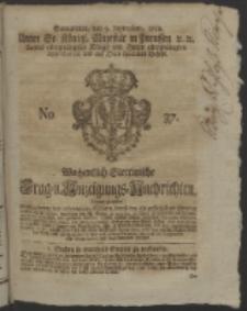 Wochentlich-Stettinische Frag- und Anzeigungs-Nachrichten. 1752 No. 37 + Anhang