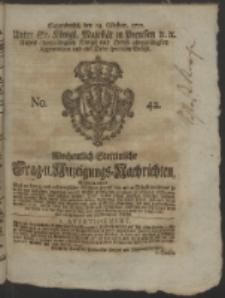 Wochentlich-Stettinische Frag- und Anzeigungs-Nachrichten. 1752 No. 42 + Anhang