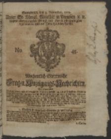 Wochentlich-Stettinische Frag- und Anzeigungs-Nachrichten. 1752 No. 45 + Anhang