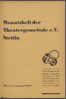 Monatsheft der Theatergemeinde e.V. Stettin. Jg. 11, 1931/1932 H. 8