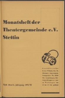 Monatsheft der Theatergemeinde e.V. Stettin. Jg. 11, 1931/1932 H. 10