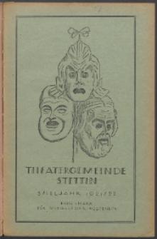 Monatsheft der Theatergemeinde e.V. Stettin. Jg. 1, 1921/22 H. 7