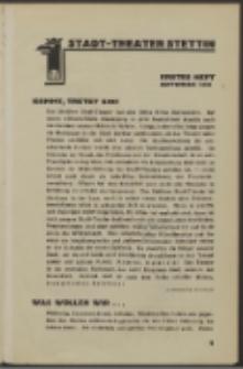 Stadt-Theater Stettin. 1930 H. 1