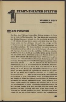 Stadt-Theater Stettin. 1931 H. 9