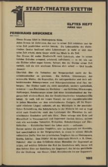 Stadt-Theater Stettin. 1931 H. 11