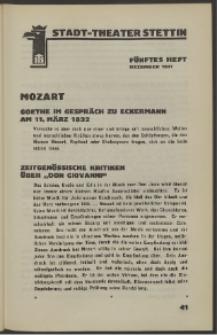 Stadt-Theater Stettin. 1931 H. 5