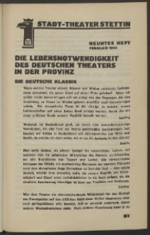 Stadt-Theater Stettin. 1932 H. 9