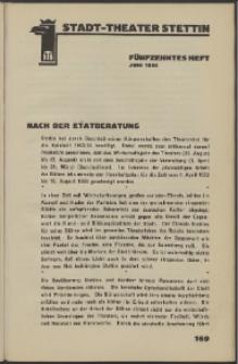 Stadt-Theater Stettin. 1932 H. 15
