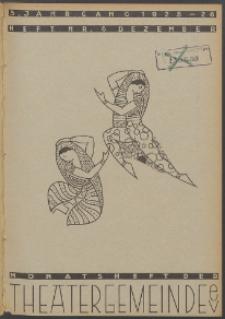 Monatsheft der Theatergemeinde e.V. Stettin. Jg. 5, 1925 H. Nr. 6