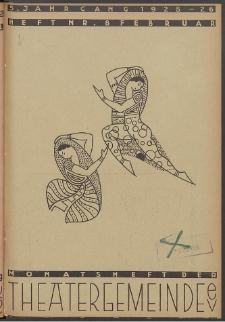 Monatsheft der Theatergemeinde e.V. Stettin. Jg. 5, 1926 H. Nr. 8