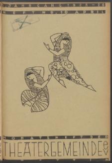 Monatsheft der Theatergemeinde e.V. Stettin. Jg. 5, 1926 H. Nr. 10