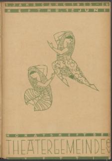 Monatsheft der Theatergemeinde e.V. Stettin. Jg. 5, 1926 Nr. 12