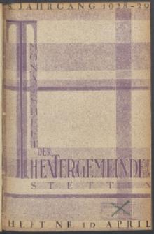 Monatsheft der Theatergemeinde e.V. Stettin. Jg. 8, 1929 H. Nr. 10
