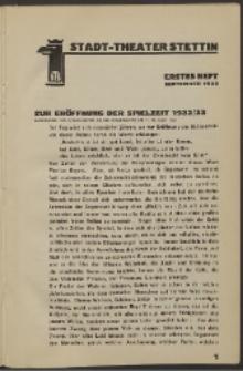 Stadt-Theater Stettin. 1932 H. 1