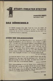 Stadt-Theater Stettin. 1932 H. 2