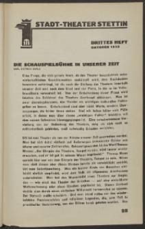 Stadt-Theater Stettin. 1932 H. 3