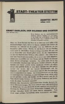 Stadt-Theater Stettin. 1933 H. 10