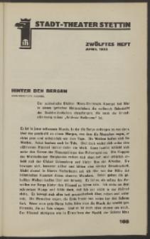 Stadt-Theater Stettin. 1933 H. 12