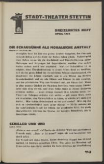 Stadt-Theater Stettin. 1933 H. 13
