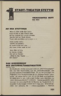 Stadt-Theater Stettin. 1933 H. 14