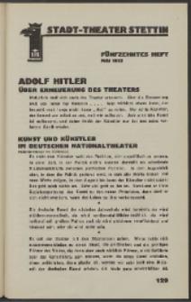 Stadt-Theater Stettin. 1933 H. 15