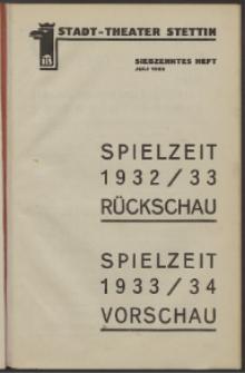 Stadt-Theater Stettin. 1933 H. 17