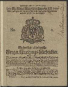 Wochentlich-Stettinische Frag- und Anzeigungs-Nachrichten. 1738 No. 2