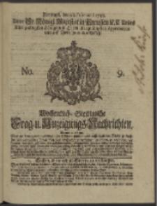 Wochentlich-Stettinische Frag- und Anzeigungs-Nachrichten. 1738 No. 9