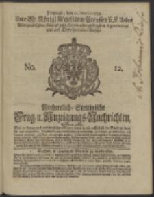 Wochentlich-Stettinische Frag- und Anzeigungs-Nachrichten. 1738 No. 12