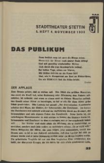 Stadt-Theater Stettin. 1933 H. 5
