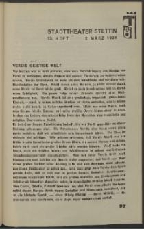 Stadt-Theater Stettin. 1934 H. 13