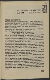 Stadt-Theater Stettin. 1934 H. 15