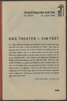 Stadt-Theater Stettin. 1934 H. 19