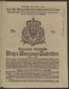 Wochentlich-Stettinische Frag- und Anzeigungs-Nachrichten. 1738 No. 19