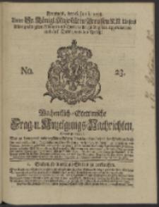 Wochentlich-Stettinische Frag- und Anzeigungs-Nachrichten. 1738 No. 23