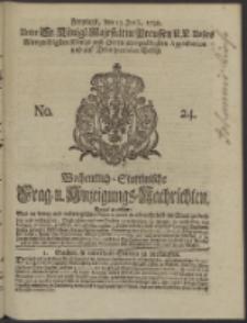 Wochentlich-Stettinische Frag- und Anzeigungs-Nachrichten. 1738 No. 24