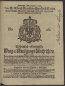 Wochentlich-Stettinische Frag- und Anzeigungs-Nachrichten. 1738 No. 26