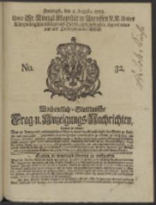 Wochentlich-Stettinische Frag- und Anzeigungs-Nachrichten. 1738 No. 32