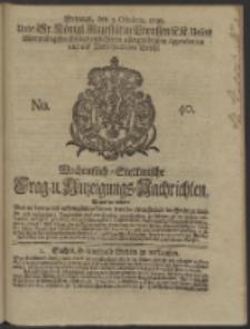 Wochentlich-Stettinische Frag- und Anzeigungs-Nachrichten. 1738 No. 40